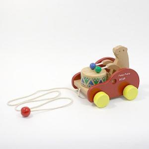 ぽこぽこくまさん/木のおもちゃ/プルトイ/引っ張る/動かす/知育/木製玩具|pepapape