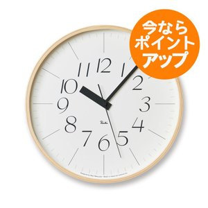 【送料無料】リキクロック/Lサイズ/電波時計/細文字タイプ/壁掛け時計/Lemnos/レムノス/渡辺 力|pepapape