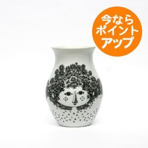Bjorn Wiinblad/ビヨン・ヴィンブラッド/ビョルン/Flower Vase/フラワーベース/Felicia/フェリシア/BLACK/ブラック/黒/くろ/H18cm/花器/花瓶/北欧デンマーク|pepapape