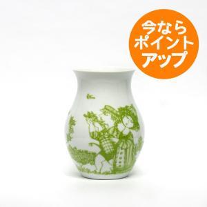 Bjorn Wiinblad/ビヨン・ヴィンブラッド/ビョルン/Flower Vase/フラワーベース/Rosegarden/ローズガーデン/GREEN/グリーン/緑/みどり/H18cm/花器/花瓶/北欧|pepapape