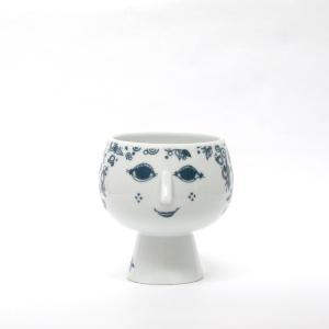 Bjorn Wiinblad/ビヨン・ヴィンブラッド/Flowerpot with foot/フラワーポット ウィズ フット/Juliane/ジュリアン/BLUE/ブルー/青/H14.3cm/花器/花瓶/北欧|pepapape