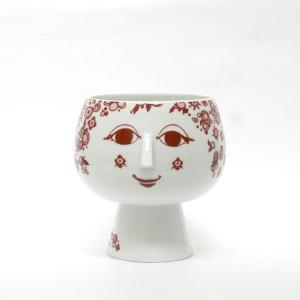 Bjorn Wiinblad/ビヨン・ヴィンブラッド/Flowerpot with foot/フラワーポット ウィズ フット/Juliane/ジュリアン/RED/レッド/赤/H17.6cm/花器/花瓶/北欧|pepapape