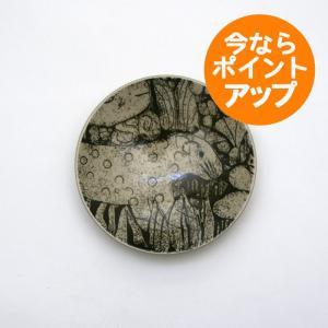 Lisa Larson/リサ・ラーソン/リサラーソン/森と動物の絵皿/4寸皿/ヒョウ/ひょう/プレート/平皿/小皿/茶色/益子焼|pepapape