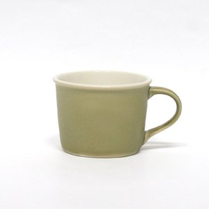 モイスカップ/オリベ/ペロカリエンテ/今泉 泰昌/マグカップ/磁器/MOISCUP/グリーン/織部/暗緑/Perrocaliente|pepapape