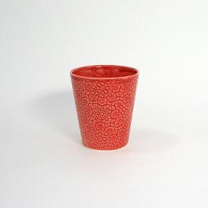 北欧スウェーデン Marocko カップ レッドB柄/クララ・プラス・ヨハン pepapape