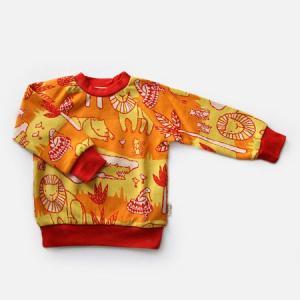 フィンランドブランド MURU スウェット 「サファリ オレンジ」「サイズ:86/92」/子供服//オーガニック|pepapape