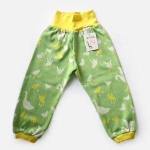 フィンランドブランド MURU パンツ「スワン グリーン」「サイズ:98/104」/子供服/オーガニック|pepapape