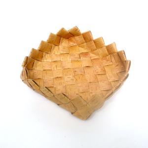 北欧フィンランドの白樺のカゴ 三角のふち・中/18×18×6cm/カイヤ・カッリ/しらかば/シラカバ/かご/籠/バスケット|pepapape