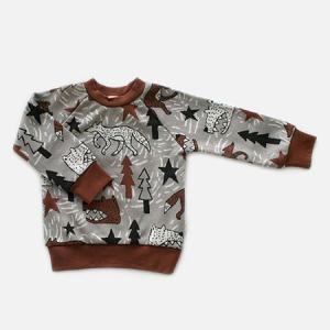フィンランドブランド MURU スウェット 「オオカミ グレー」「サイズ:86/92」/子供服//オーガニック|pepapape