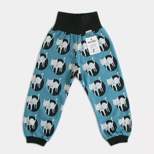 フィンランドブランド MURU パンツ「ネコ ブルーブラック」「サイズ:86/92、98/104」/子供服/オーガニック|pepapape
