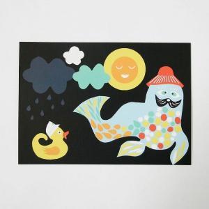北欧フィンランドのポストカード/Seal/ファブリックファーム|pepapape