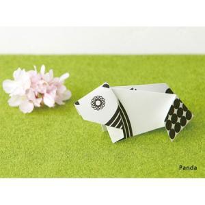 ori-hagaki geometric 「Panda」/動物ポストカード|pepapape