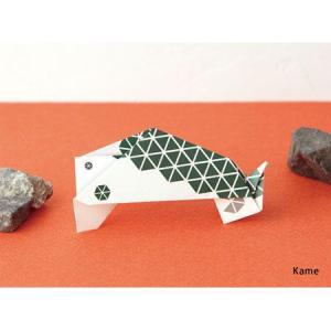 ori-hagaki geometric 「Kame」/動物ポストカード|pepapape