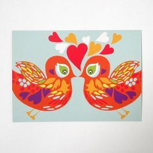 北欧フィンランドのポストカード/Birds/ファブリックファーム|pepapape