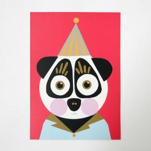 北欧フィンランドのポストカード/Panda/ファブリックファーム|pepapape