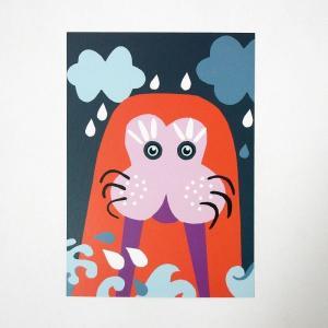 北欧フィンランドのポストカード/Walrus/ファブリックファーム|pepapape