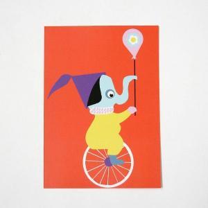 北欧フィンランドのポストカード/Elephant/ファブリックファーム|pepapape