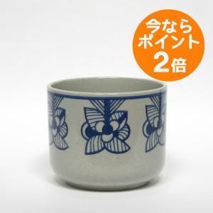 Lisa Larson × 波佐見焼/鉢カバー「flora」 blue stripe flower/リサ・ラーソン/花器/フラワーベース|pepapape