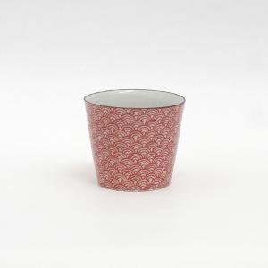 印判蕎麦猪口 青海波 朱/monono ahare/ANGLE(アングル)|pepapape