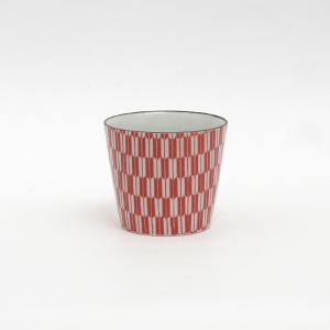 印判蕎麦猪口 矢がすり 朱/monono ahare/ANGLE(アングル)|pepapape