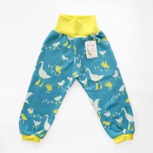 フィンランドブランド MURU パンツ「スワン ブルー」「サイズ:86/92,98/104」/子供服/オーガニック|pepapape