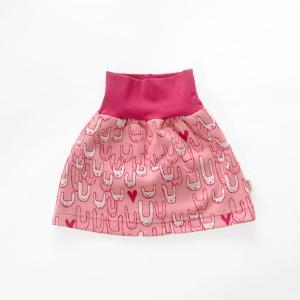【クリックポスト対応】フィンランドブランド MURU スカート「ウサギファミリー ピンク」「サイズ:86/92,98/104」/子供服/赤ちゃん/オーガニック|pepapape