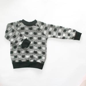 フィンランドブランド MURU スウェット 「ネコ グレー」「サイズ:86/92,98/104」/子供服//オーガニック|pepapape