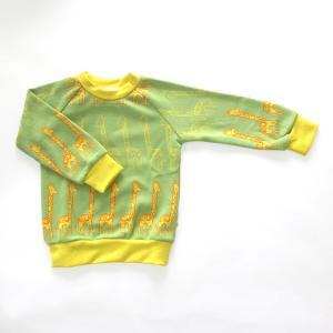フィンランドブランド MURU スウェット 「キリン ライトグリーン」「サイズ:86/92,98/104」/子供服//オーガニック|pepapape