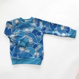 フィンランドブランド MURU スウェット 「ヒツジ ブルー」「サイズ:86/92,98/104」/子供服//オーガニック|pepapape