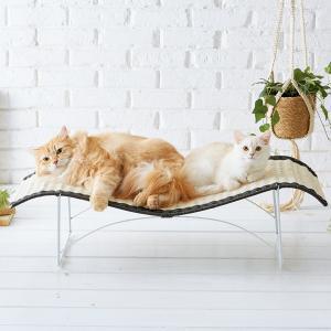 リラックスカウチ (ベッド かご ラタン調 猫 猫用品 猫用 ペットグッズ)