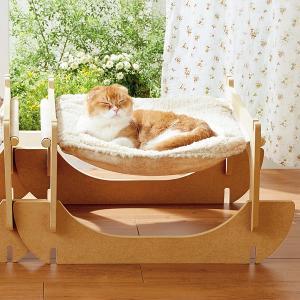 リバーシブルハンモック 1個 (ベッド キャットタワー 猫用品 ペットグッズ)