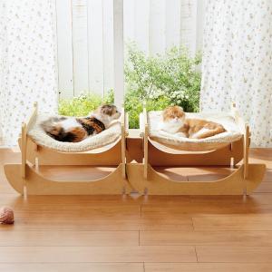 リバーシブルハンモック 2個セット (ベッド キャットタワー 猫用品 ペットグッズ)
