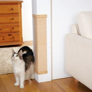 諦めていたその壁に! 爪とぎが置けない狭い隙間やコーナー部、廊下に貼って使う便利な木製の爪とぎ板。 ...