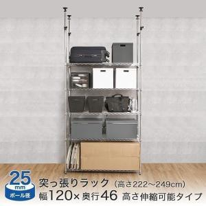 ルミナス スチールラック メタルラック ランキング常連 棚 幅120 5段 つっぱり 突っ張り ルミナススリム (25mm)|perfect-floors