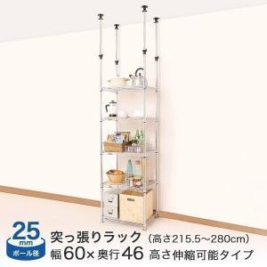 ルミナス スチールラック メタルラック ランキング常連 棚 幅60 5段 つっぱり 突っ張り ルミナススリム (25mm) テンションポール|perfect-floors