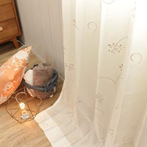 オーダーカーテン 刺繍レース 〜マージ〜 最短6営業日出荷 1.5倍ヒダ|perfect-space-c