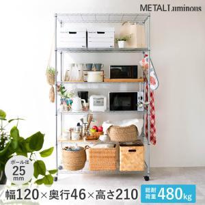 ルミナス メタルルミナス スチールラック 25mm 幅120 奥行46 高さ214 6段 EL25-12216|perfect-space