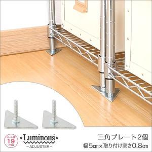 [19mm] ルミナス 三角プレート スチールラック 高さ0.8cm 2個 パーツ IHT-A2 perfect-space