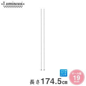 [19mm] ルミナス 基本ポール スチールラック 長さ174.5cm 2本 パーツ PHT-0173SL|perfect-space