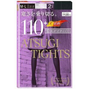 アツギ ATSUGI TIGHTS アツギタイツ 110デニール ブラック M〜L 2足組|perfectshop