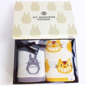 シンプルなデザインが可愛いトトロのタオルセット☆彡 出産祝いや内祝いのお返しなどにおすすめ!