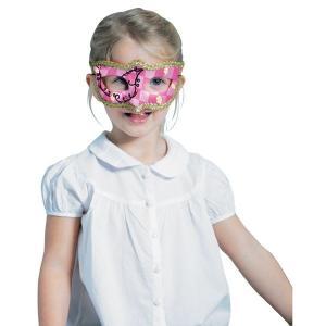 店内全品10%オフSALE開催中!コスプレ マスク 仮面 大人 子供 ドミノマスク シャイニーピンク 仮装|perfectworld-tokyo