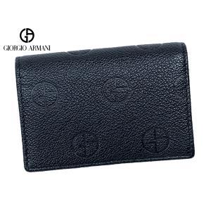 ARMANI COLLEZIONI アルマーニ コレツィオーニ BIV21 V3 ロゴプレート付き ダークグリーン系 サフィアノレザー 名刺入れ ビジネス カードケース perlei