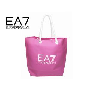 エンポリオ アルマーニ バッグ 916001 6P291 RASPBERRY ROSE EA7 ロゴ入り ラズベリー ローズ ピンク系 PVC トートバッグ|perlei