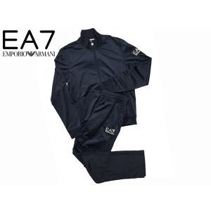 EA7 EMPORIO ARMANI EA7 エンポリオアルマーニ 6XPV52 PJ08Z 1758 BLU NOTTE EA7ロゴマーク入りメンズブルーノッテダークネイビー系ジャージトラックスーツ S perlei