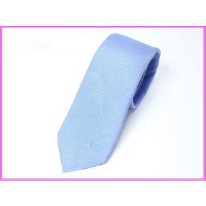 BURBERRY LONDON バーバリー ロンドン 3920241 RAYNHAM BRIGHT BLUE 少し難有り トレードマーク騎士刺繍入り ブルー系 ナロー ネクタイ|perlei