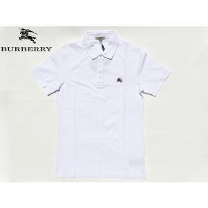 BURBERRY LONDON バーバリー ロンドン ボルドー系 トレードマーク 騎士刺繍入り メンズ向け ホワイト 鹿の子 半袖 ポロシャツ|perlei