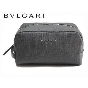 ブルガリ セカンドバッグ BVLGARI 33400 ブルガリ ロゴ入り グレー系 PVC セカンドバッグ BULGARI perlei
