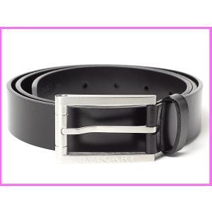 BVLGARI ブルガリ ベルト 20689 ロゴ入りバックル ブラックレザー ベルト 95サイズ BULGARI perlei
