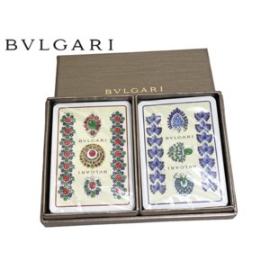 BVLGARI ブルガリ トランプ ブルガリ ロゴ入り トランプ プレイングカード 2個セット BULGARI perlei